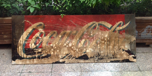 coca-cola bubbles sign