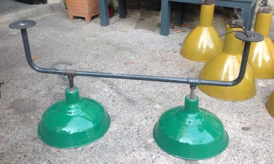 double factory pendent lamp