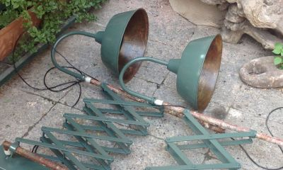 large scissors lamps army green