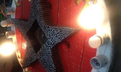star good luck sign wall lamp