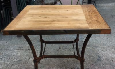wooden top square table new